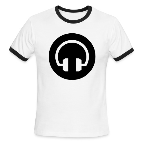 Headphones Tee Blk - Men's Ringer T-Shirt