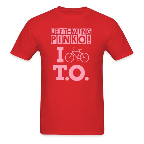 Left Wing Pinko I Bike T.O. T-Shirt (Mens) - Men's T-Shirt