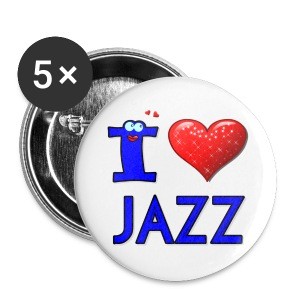 I LOVE JAZZ Small Buttons - Small Buttons