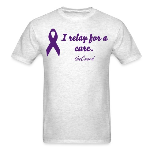 I relay for a cure (Mens) - Men's T-Shirt