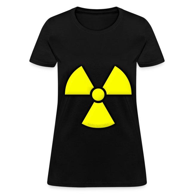 Gabrielangeldesign Radiation Symbol Womens T Shirt