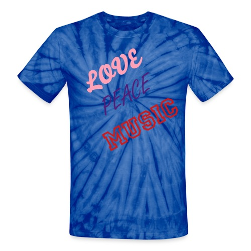 Love, Peace, Music Tie-Dye - Unisex Tie Dye T-Shirt