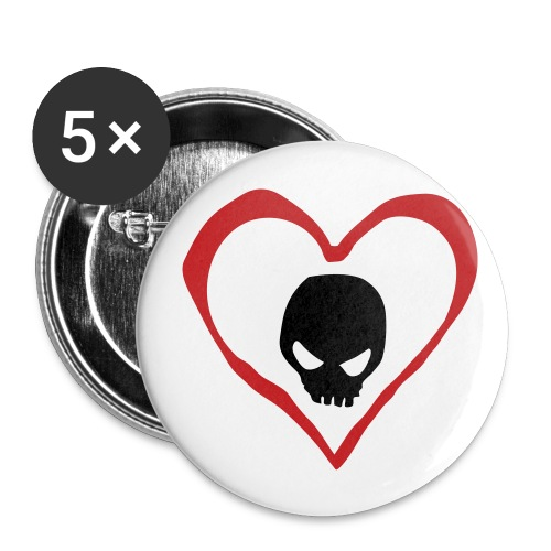 Heart/Skull Button - Small Buttons