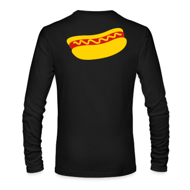 hotdog with mustard Long Sleeve Shirts
