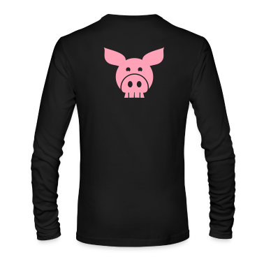 piggy skull skulls Long Sleeve Shirts