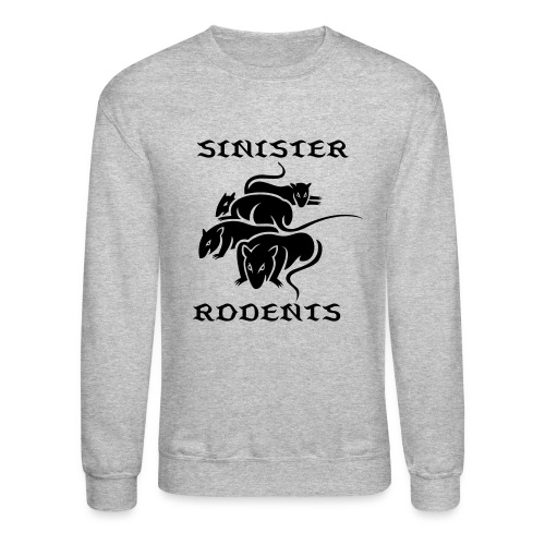 SINISTER RODENTS GREY/BLACK LONG SLEEVE - Crewneck Sweatshirt