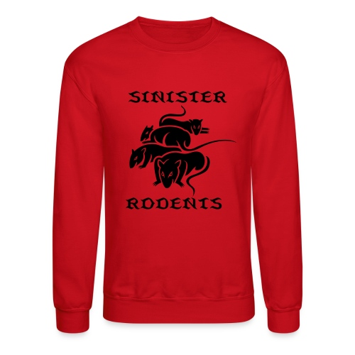SINISTER RODENTS RED/BLACK LONG SLEEVE - Crewneck Sweatshirt