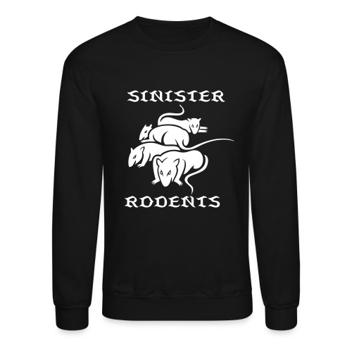 SINISTER RODENTS WHITE/BLACK LONG SLEEVE - Crewneck Sweatshirt