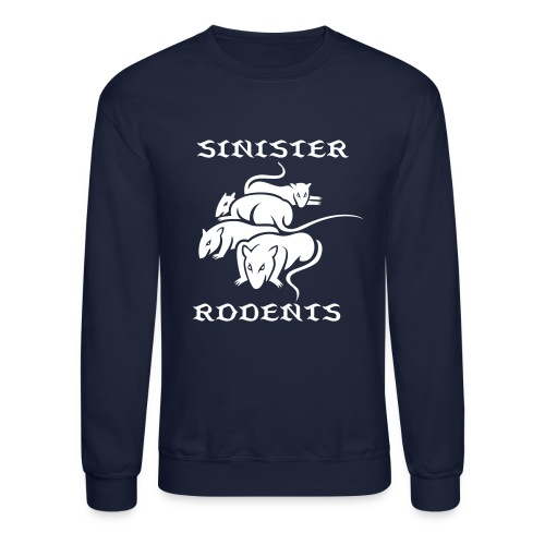 SINISTER RODENTS WHITE/BLUE LONG SLEEVE - Crewneck Sweatshirt