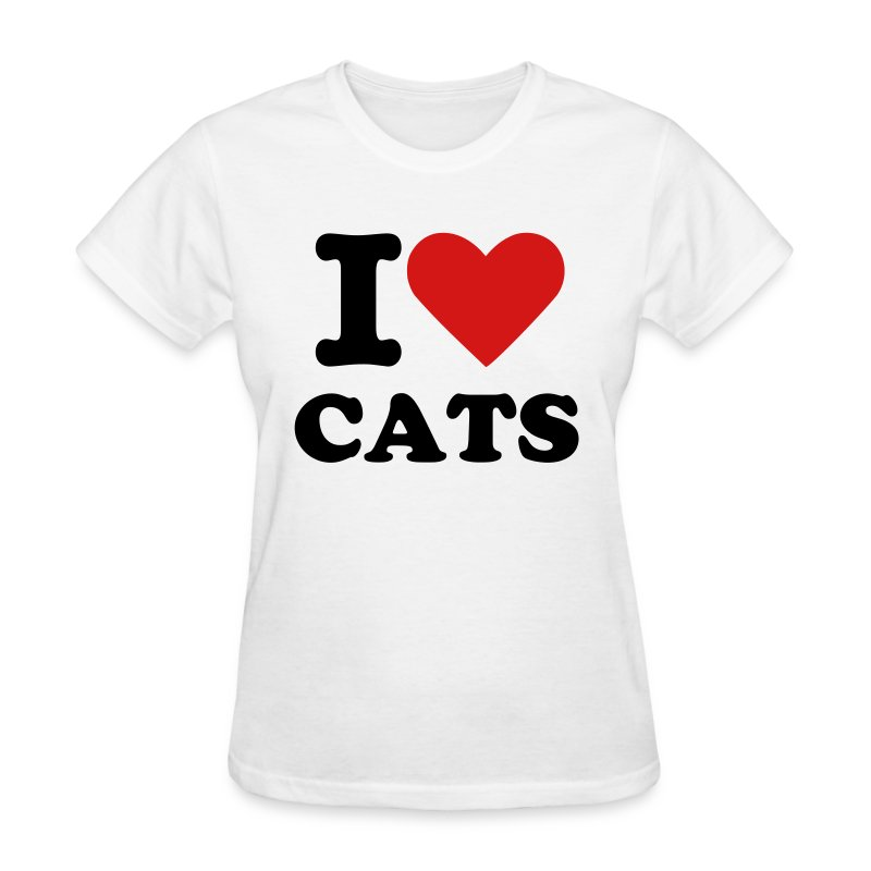 I Heart Cats - Women's T-Shirt