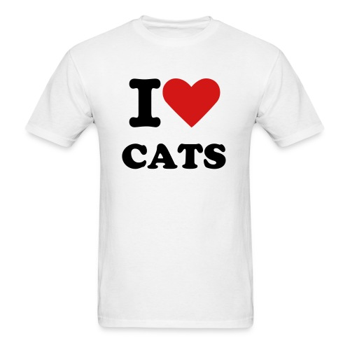 I Heart Cats - Men's T-Shirt