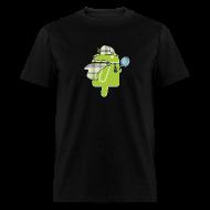 T-Shirts ~ Men's T-Shirt ~ Logo & QR (Dark)