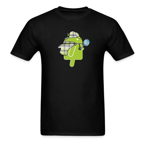 Logo & QR (Dark) - Men's T-Shirt