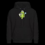 Hoodies ~ Men's Hoodie ~ Logo & QR (Dark)