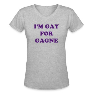 I'm Gay for Gagne - Women's V Neck - Women's V-Neck T-Shirt