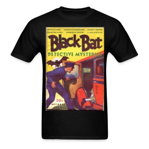 Black Bat Detective Mysteries 1st Issue Hero Pulp - Men's T-Shirt
