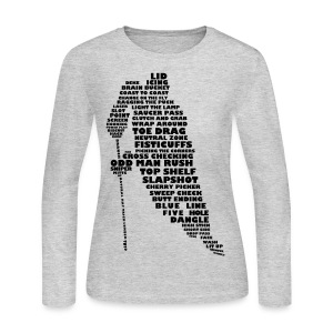 Language of Hockey (black print) Long Sleeve Shirts - Women's Long Sleeve Jersey T-Shirt