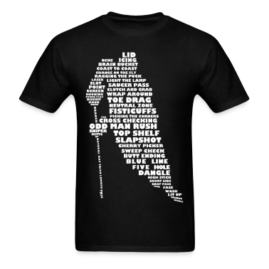 Language of Hockey Typography T-Shirts
