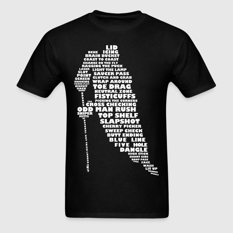 Language of Hockey Typography T-Shirts - Men's T-Shirt