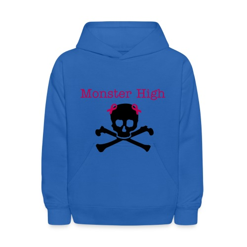 monster high skull and crossbone - Kids' Hoodie