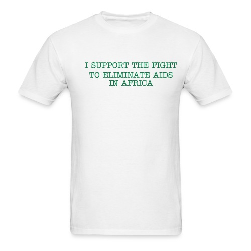 Support the fight against Aids in Africa. - Men's T-Shirt
