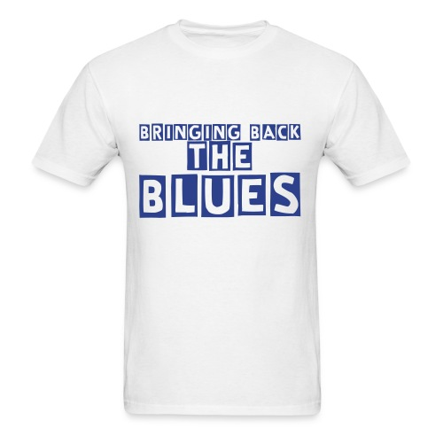 Bringing Back The Blues Tshirt (White and blue) - Men's T-Shirt