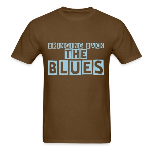 Bringing Back The Blues Tshirt (Brown and Blue) - Men's T-Shirt