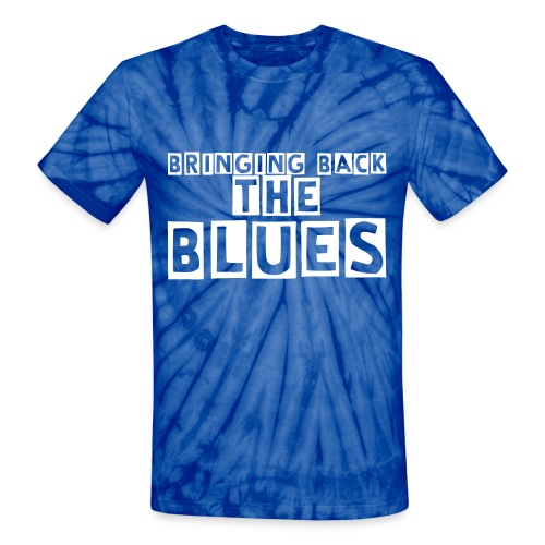 Bringing Back The Blues Tshirt (Blue Tie Die) - Unisex Tie Dye T-Shirt