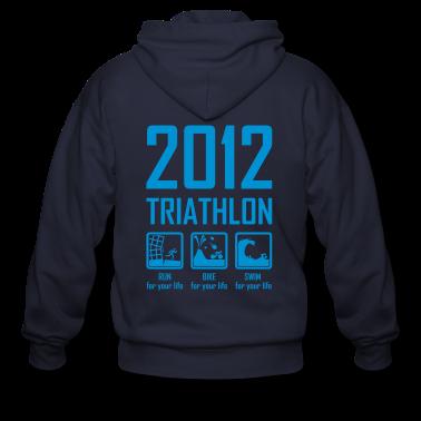 2012 Triathlon Zip Hoodies/Jackets