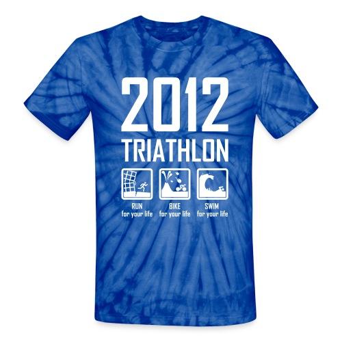 2012 Triathlon - Unisex Tie Dye T-Shirt
