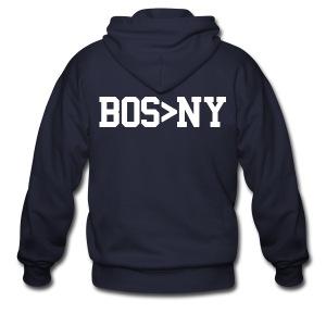 BOS > NY - Men's Zip Hoodie