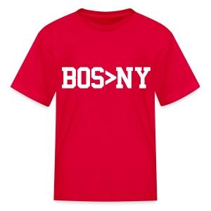 BOS > NY - Kids' T-Shirt