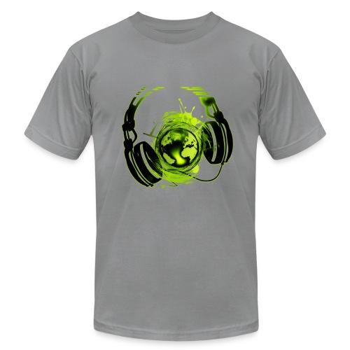 Headphones/Globe splash - Men's Fine Jersey T-Shirt