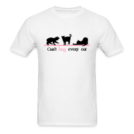T-Shirts ~ Men's T-Shirt ~ Can't Hug Every Cat