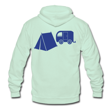 camp tent and camper caravan trailer Zip Hoodies/Jackets