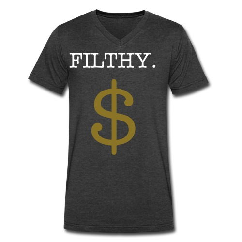 Filthy Money - Men's V-Neck T-Shirt by Canvas