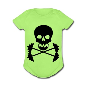 Barbell Skull - Short Sleeve Baby Bodysuit