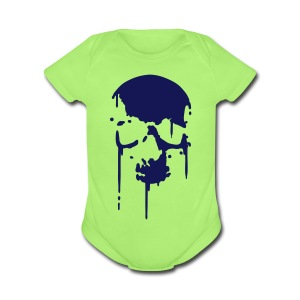 Melting Skull - Short Sleeve Baby Bodysuit