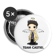 Buttons ~ Large Buttons ~ Team Castiel