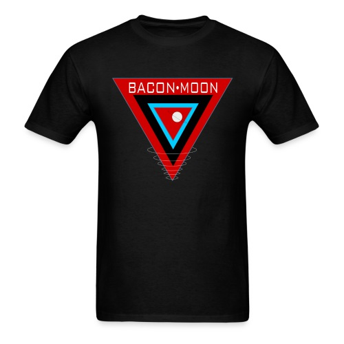 Bacon Moon Black T White Rings - Men's T-Shirt