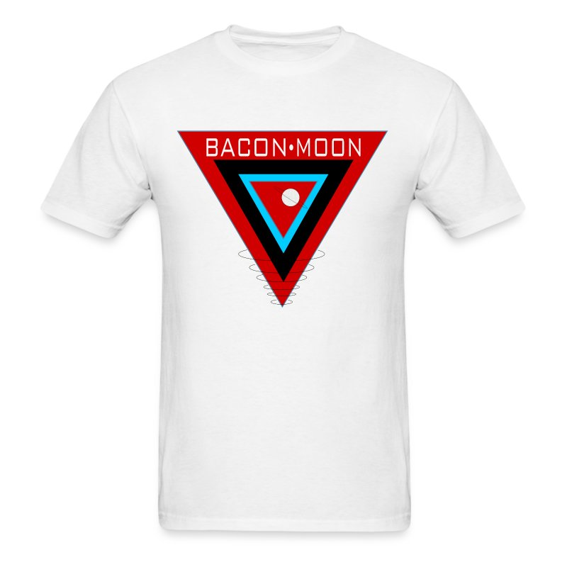 Bacon Moon White T Black Rings - Men's T-Shirt