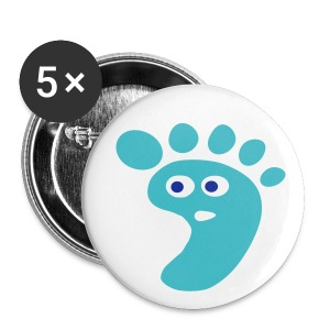 Cute Right foot art Small Buttons - Small Buttons