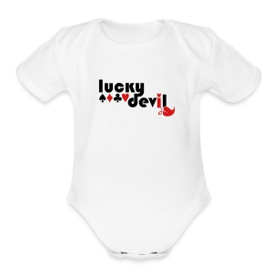 Lucky Devil - Short Sleeve Baby Bodysuit