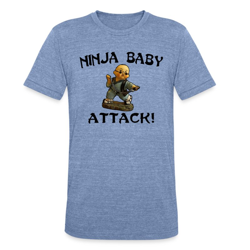 Ninja Baby Attack - Unisex Tri-Blend T-Shirt by American Apparel