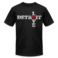 T-Shirts ~ Men's T-Shirt by American Apparel ~ Love Detroit