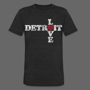 Love Detroit - Unisex Tri-Blend T-Shirt by American Apparel