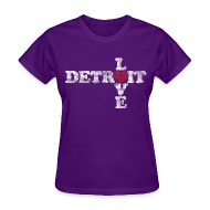 Women's T-Shirts ~ Women's T-Shirt ~ Love Detroit