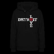 Hoodies ~ Women's Hoodie ~ Love Detroit