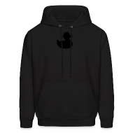 Hoodies ~ Men's Hoodie ~ duckie - fuzzy black on black