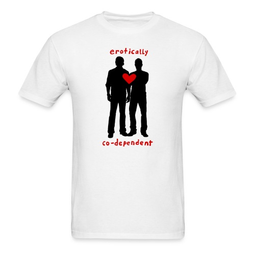 Erotically Co-Dependent (DESIGN BY IVA) - Men's T-Shirt